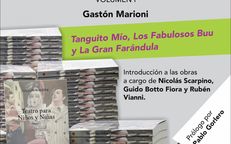 Teatro para Niños y Niñas. Volumen I. De Gastón Marioni (libro)